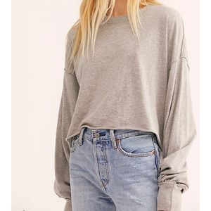 Free People NWT Long Sleeve Crop Top Size XS